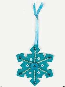 Snowflake Felt Craft Kit Winter Christmas Wonderful Fun