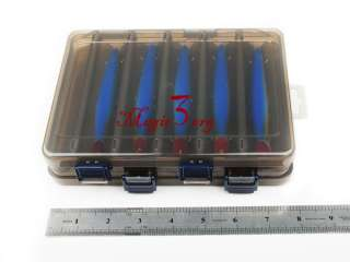 NEW Compartment Fishing Tackle Lure Hook Box Black BBMA1