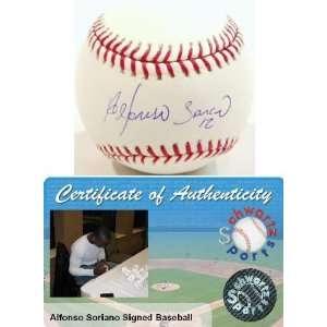 Alfonso Soriano Signed Rawlings MLB Baseball  Sports