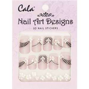 Jeweled 3D Nail Art Stickers x2 Packs Flowers #86384+ Aviva Nail File