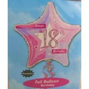 Foil Balloon Happy 18th Birthday 19(48cm): Everything