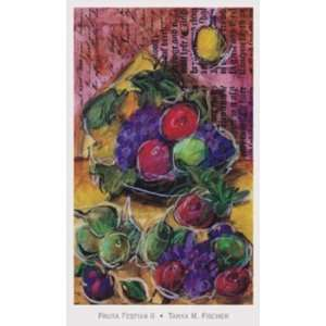 Fruta Festiva ll by Tanya Fischer 12x16: Kitchen & Dining