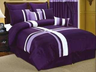 Comforter Set Patchwork Modern Shams Decorative Pillows Black white