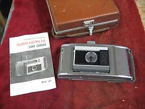 Polaroid Electric Eye Land Camera Model J66 With Booklet and Nice