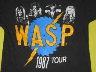 UBER RARE SLAYER / WASP 1987 VTG TOUR T SHIRT W.A.S.P CONCERT THRASH