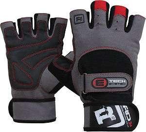 RDX Gel Weight lifting Training Gloves Gym Strap Grip L