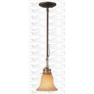 NEW 1 Light Mini Pendant Lighting Fixture, Vintage Bronze and Gold