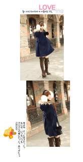 2011 New womens Wool blend cape coat