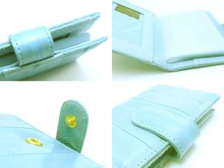 Genuine Eel skin Leather Credit Card Case Holder BLUE