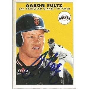 Aaron Fultz Signed San Francisco Giants 2000 Fleer Card