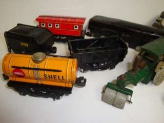 Huge Lot of Old Toys MARX TIN TOYS WIND UP PLASTIC Toy Cars Toy Trucks