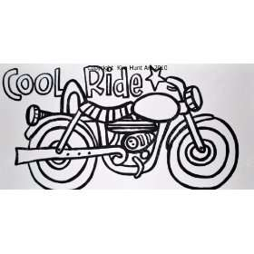 Paint a Doodle Canvas Art Kit   Motorcycle   12 X 24