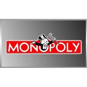 Monopoly the Game Logo Vinyl Decal Bumper Sticker 2x8