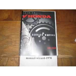 CR125 R CR 125R CR 125 R Service Manual Paper Part# 61KZ451 Books