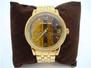 NEW Michael Kors TIger Eye Brown Gold Watch MK5099 5099