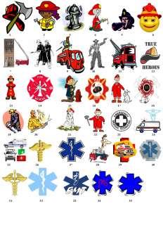Fireman Firefighter EMS Address Favor Label Great Gift