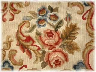 GROSS POINT AREA RUG WALL HANGING RARE 6x8 Handcrafted Wool Original