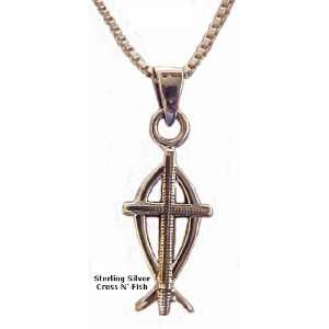 Fashion Jewelry ~ Sterling Silver Ichthus Pendant Necklace