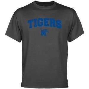 Memphis Tigers T Shirt  Memphis Tigers Charcoal Logo Arch