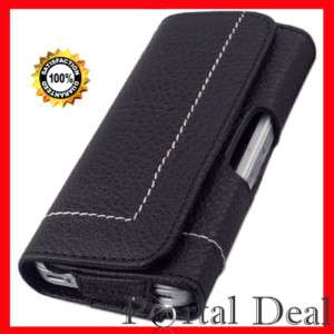 LEATHER SIDE CASE BELT CLIP POUCH FOR IPHONE 3GS 3G 4G
