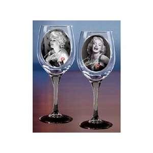 Marilyn Monroe Signature Wine Glassware Set  Kitchen