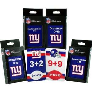 Specialties New York Giants Math Pack Flash Cards