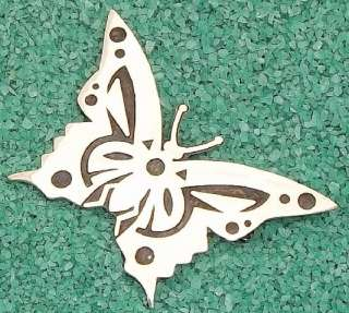 Taxco Mexico Mexican Butterfly 950 Sterling Brooch Pin |