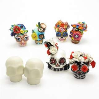 Unpainted Skull Day of Dead DIY Crafts Project Wedding Cake Topper