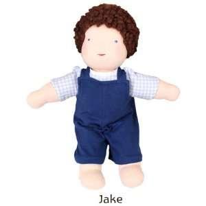 Jake Camden Doll, 11 12 Natural Waldorf Doll, Brown Hair, Brown