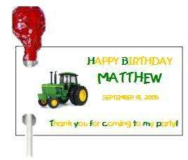 108 JOHN DEERE BIRTHDAY PARTY CANDY WRAPPERS FAVORS