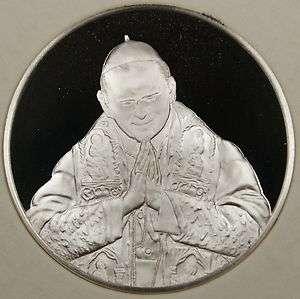 Pope John Paul II Silver Medal, By The Franklin Mint