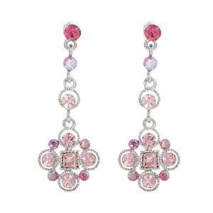 Perfect Gift   High Quality Antique Earrings with Pink