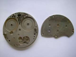 Waltham 8 days 61 mm pocket watch movement for parts