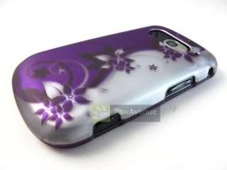 SILVER PURPLE CURVES Hard Case Cover Verizon Pantech Breakout Phone