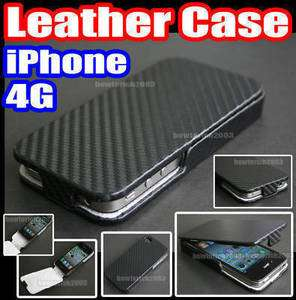 Flip Leather Case Cover Pouch for Apple iPhone 4 4G 4th 4S