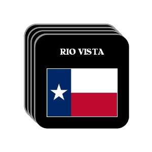 US State Flag   RIO VISTA, Texas (TX) Set of 4 Mini Mousepad Coasters
