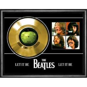 The Beatles Let It Be Framed Gold Record A3 Musical Instruments