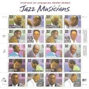 Legends of American Music Series   Jazz Musicians   Full Sheet 5 x 4