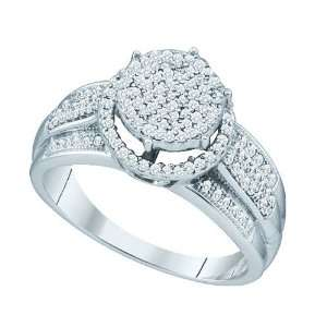 10K White Gold 3/8 ct. Diamond Micro Pave Ring Katarina Jewelry