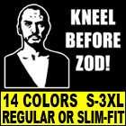 KNEEL BEFORE ZOD T Shirt MENS dvd blu ray superman ii 2
