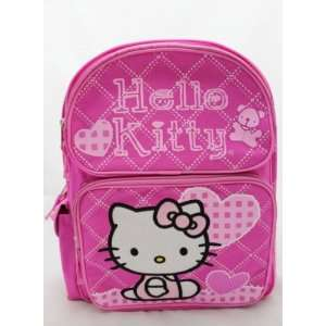 Hello Kitty Large 16  School Backpack Bag   PINK HEART