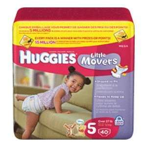 Kimberly Clark Huggies Little Movers Diaper Size 5 Health