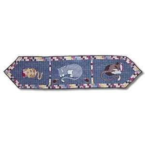 Kitty Cats, Table Runner 16X 72