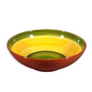 Terracotta Fruit Bowl   Yellow/Green   11.5 inches