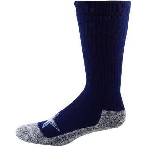 Cowboys Mens Navy Blue Gray Wool Trekker Socks