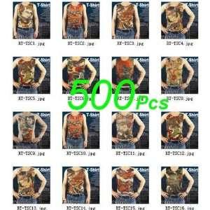 Wholesale 500 pcs Novelty Tattoo T shirts HOT Health