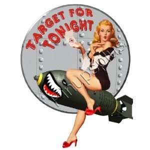WWII Marilyn Monroe Pinup Bomber Art Rivets Decal S384