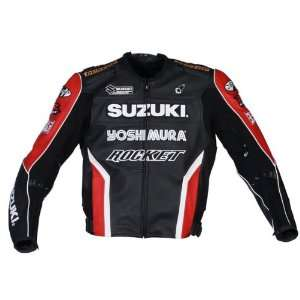 JOE ROCKET SUZUKI SUPERBIKE LEATHER JACKET BK/RD/WT 42
