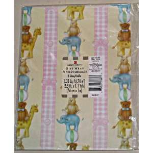 American Greetings Baby Girl or Baby Shower Gift Wrap