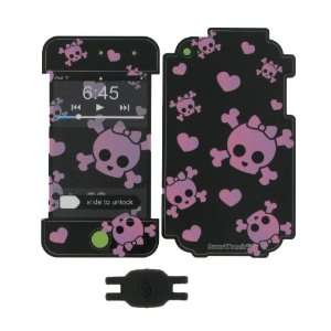 Pink Cutie Skull Design Smart Touch Shield Decal Sticker and Wallpaper